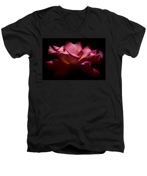 Men's V-Neck T-Shirt featuring the photograph True Beauty by Lori Seaman