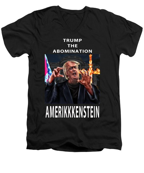 Trump The Abomination Men's V-Neck T-Shirt
