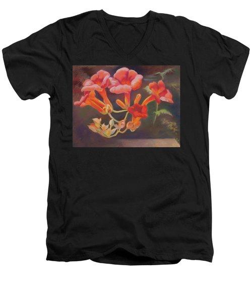Trumpet Flowers Men's V-Neck T-Shirt