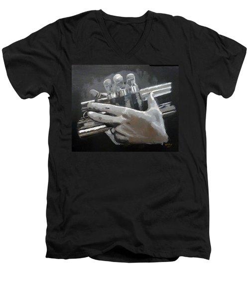 Trumpet Hands Men's V-Neck T-Shirt