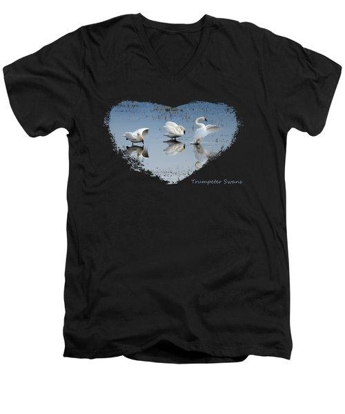 Trumpeter Swans Men's V-Neck T-Shirt