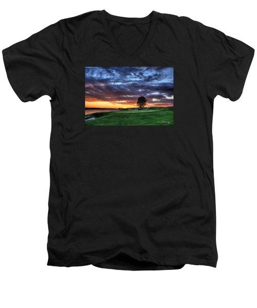 Try Me The Landing Men's V-Neck T-Shirt by Reid Callaway