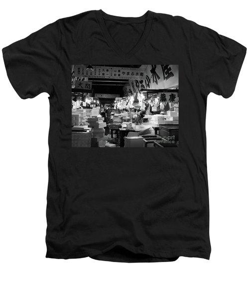 Tsukiji Shijo, Tokyo Fish Market, Japan 3 Men's V-Neck T-Shirt