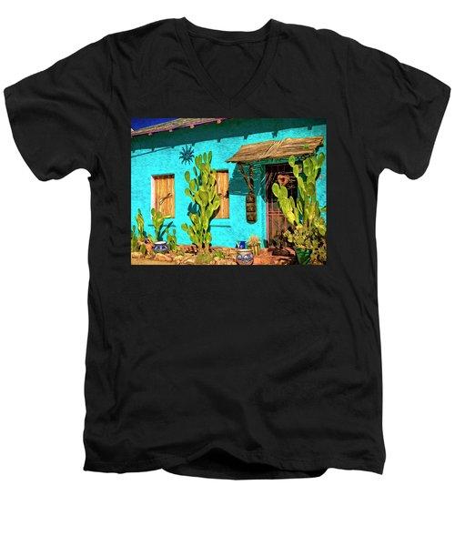 Tucson Blue Men's V-Neck T-Shirt