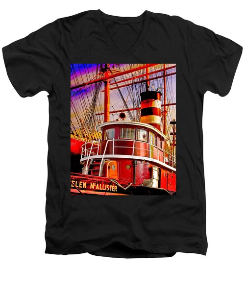 Tugboat Helen Mcallister Men's V-Neck T-Shirt