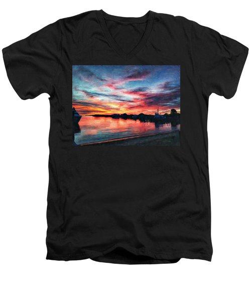Tugboat Sirius At Sunrise Men's V-Neck T-Shirt