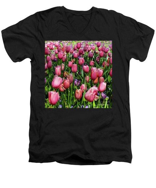 Tulip Flowers  Men's V-Neck T-Shirt