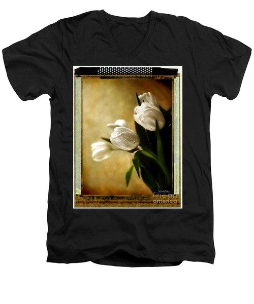 Tulip Side Sepia Men's V-Neck T-Shirt