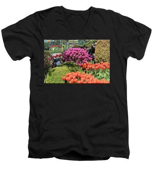 Tulips And Rhodies Men's V-Neck T-Shirt