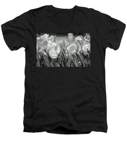Men's V-Neck T-Shirt featuring the photograph Tulips by JoAnn Lense