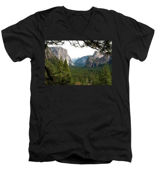 Tunnel View Framed Men's V-Neck T-Shirt