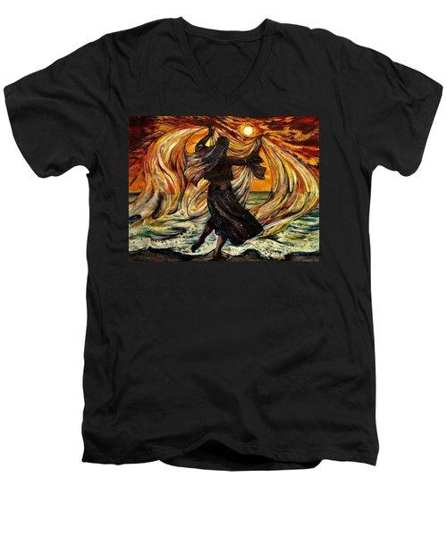 Turkish Sunset Men's V-Neck T-Shirt