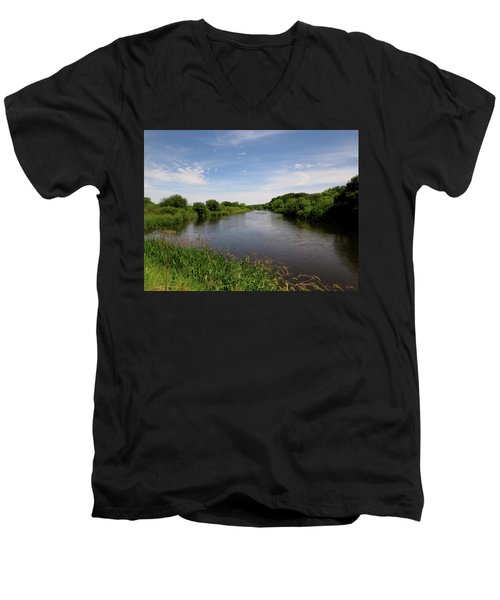 Men's V-Neck T-Shirt featuring the photograph Turtle Creek by Kimberly Mackowski