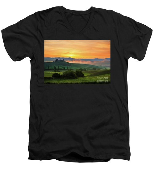 Tuscan Dream II Men's V-Neck T-Shirt by Yuri Santin