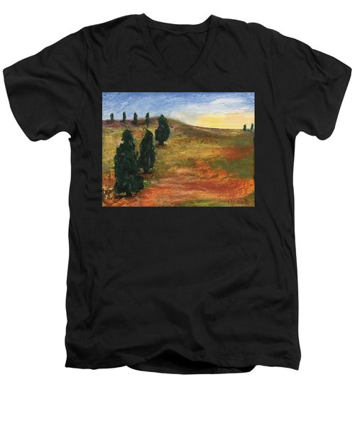 Tuscan Lights Men's V-Neck T-Shirt