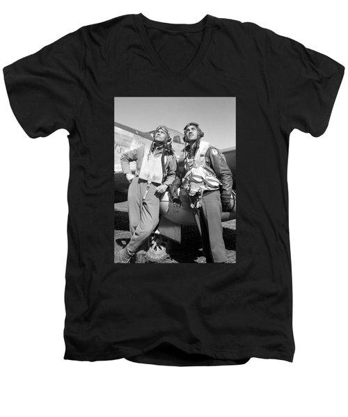 Tuskegee Airmen Men's V-Neck T-Shirt