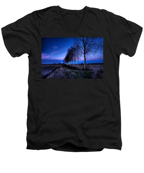 Twilight And Trees Men's V-Neck T-Shirt
