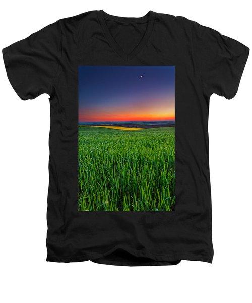 Twilight Fields Men's V-Neck T-Shirt