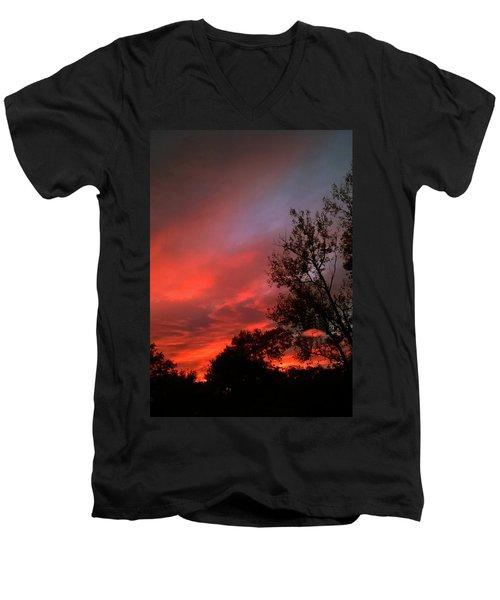 Twilight Fire Men's V-Neck T-Shirt