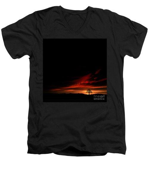 Twilight Glow Men's V-Neck T-Shirt