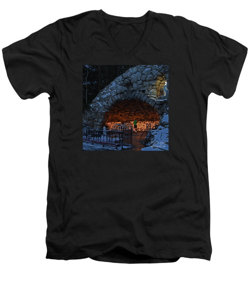 Twilight Grotto Prayer Men's V-Neck T-Shirt