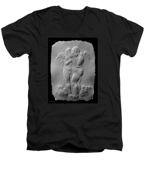 Two Angels Men's V-Neck T-Shirt by Suhas Tavkar