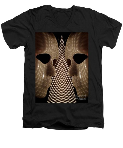 Two Faced Men's V-Neck T-Shirt