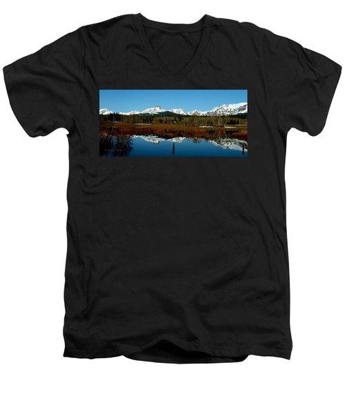 Two Med River Reflection Men's V-Neck T-Shirt