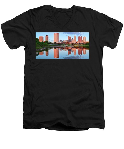 Men's V-Neck T-Shirt featuring the photograph Two Of Everything by Frozen in Time Fine Art Photography