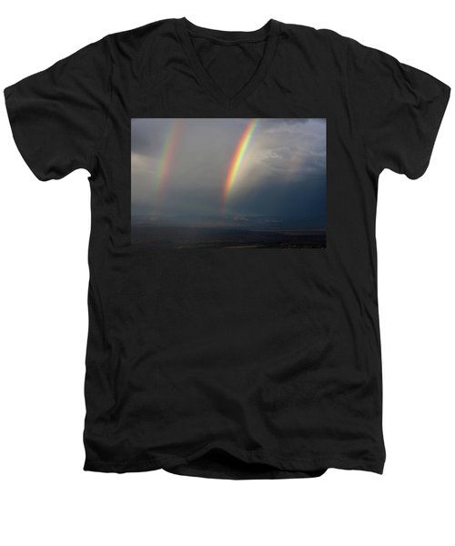 Two Rainbows Men's V-Neck T-Shirt