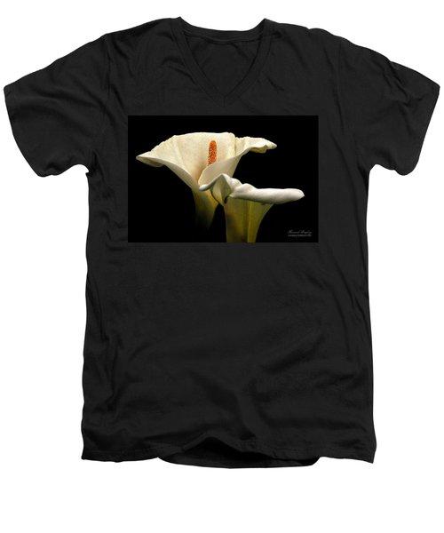 Two Lilies Men's V-Neck T-Shirt