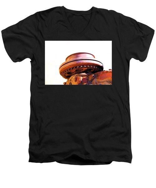 Ufo Landing At Joshua Trees Men's V-Neck T-Shirt