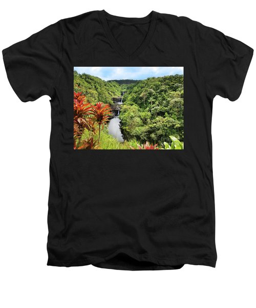 Umauma Falls Men's V-Neck T-Shirt