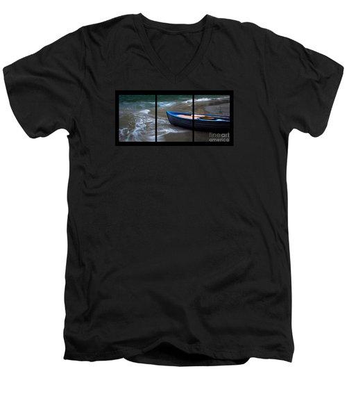 Uncertain Future Triptych Men's V-Neck T-Shirt
