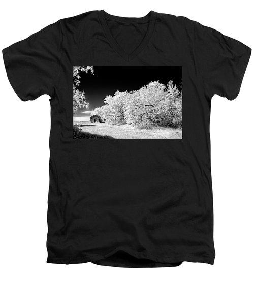 Under A Dark Sky Men's V-Neck T-Shirt by Dan Jurak