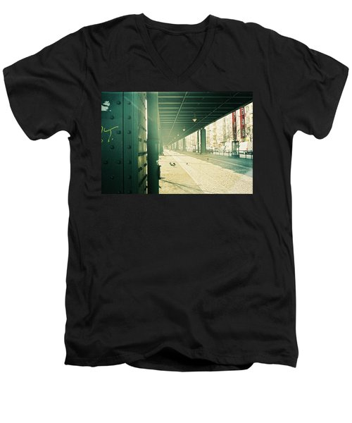 Under The Elevated Railway Men's V-Neck T-Shirt