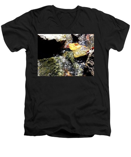 Men's V-Neck T-Shirt featuring the photograph Under The Glass Of Water by Robert Knight