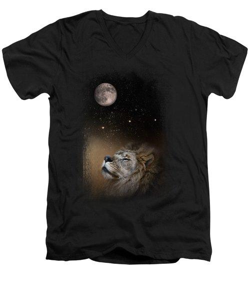Under The Moon And Stars Men's V-Neck T-Shirt by Jai Johnson