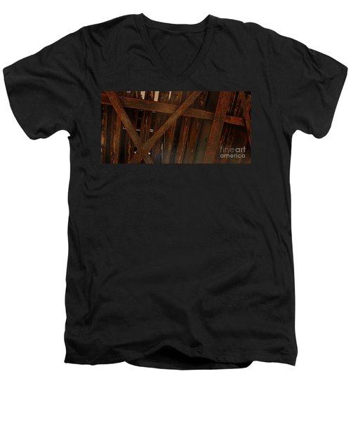 Under The Train Tracks Men's V-Neck T-Shirt