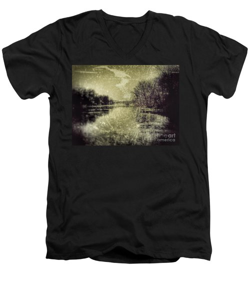 Unfrozen Lake Men's V-Neck T-Shirt by Jason Nicholas