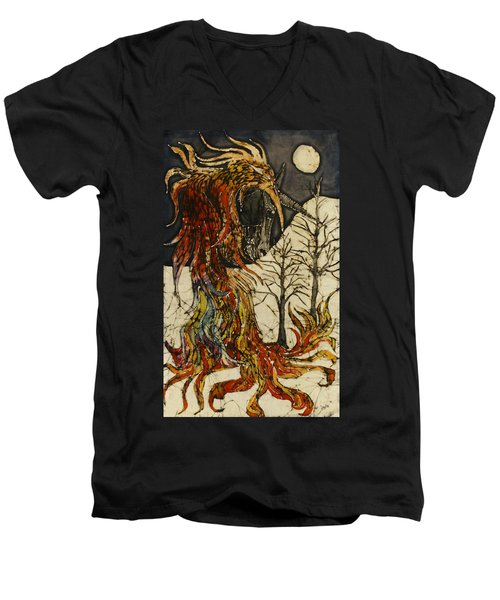 Unicorn And Phoenix Men's V-Neck T-Shirt