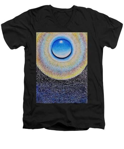 Universal Eye In Blue Men's V-Neck T-Shirt