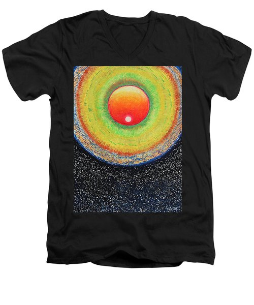 Universal Eye In Red Men's V-Neck T-Shirt