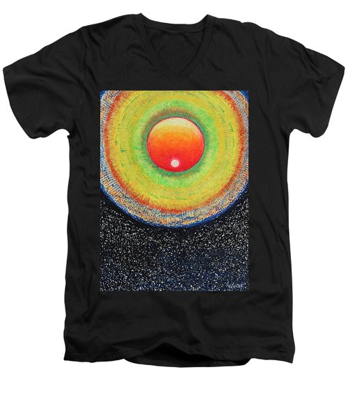 Universal Eye In Red Men's V-Neck T-Shirt