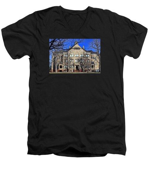 University Hall Men's V-Neck T-Shirt
