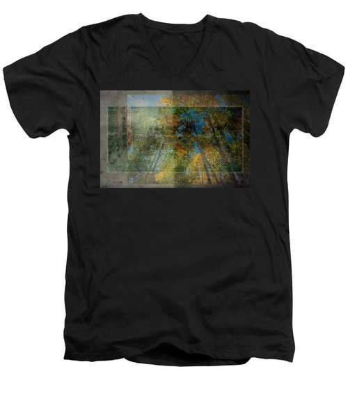 Men's V-Neck T-Shirt featuring the photograph Unmanned by Mark Ross