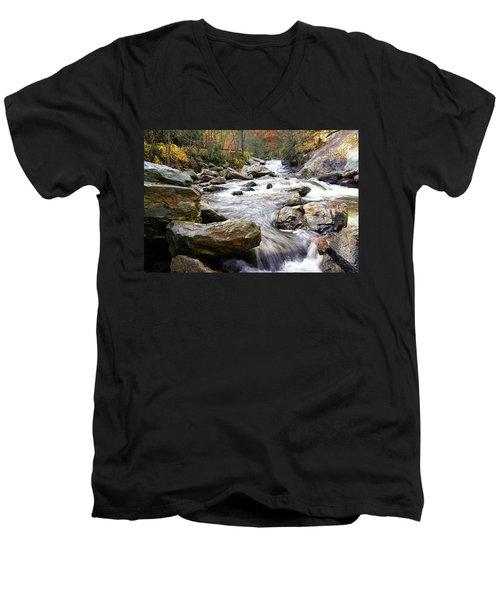 Unnamed Waterfall Men's V-Neck T-Shirt