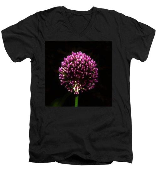 Unopened Allium Men's V-Neck T-Shirt