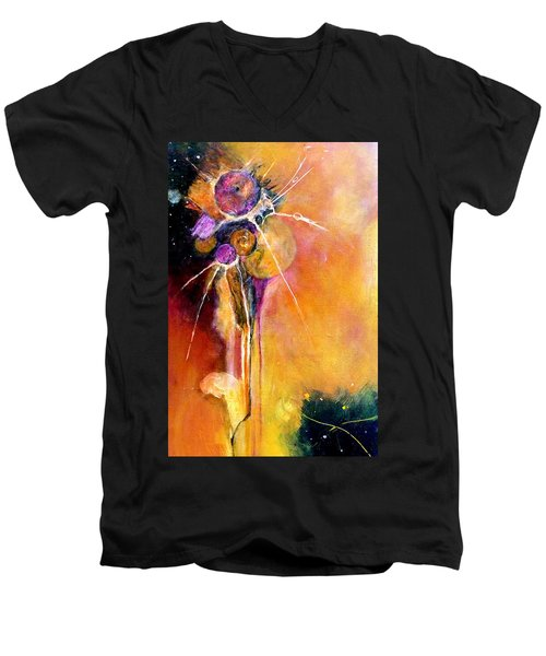 Men's V-Neck T-Shirt featuring the painting Unrequited Love by Jim Whalen