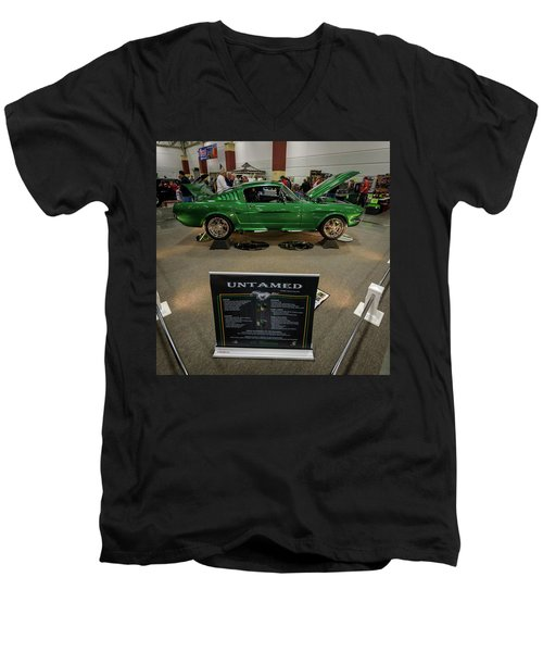 Men's V-Neck T-Shirt featuring the photograph Untamed by Randy Scherkenbach